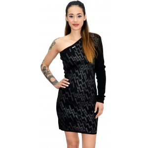 Black Womens dress 1 Sleeve (11.FAIF1248)