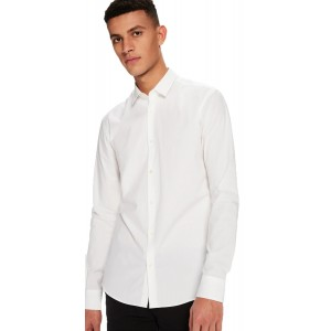 Classic elastane shirt slim fit White (132837.00)
