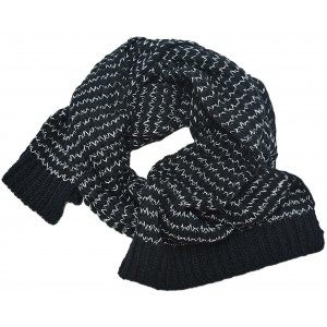 Astrid Long Knitted Scarf (15139818.BLK)