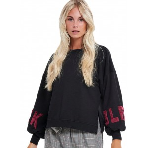 Lola L-s Oversized O-neck Sweater (15158602.BLK)