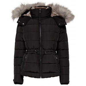 Vigga Short Quilted Nylon Jacket (15159389.BLK)