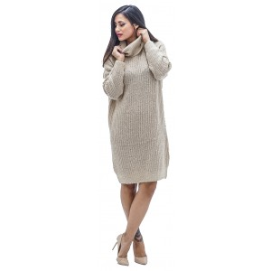 Vega L-s Rollneck Dress Knit (15160724.020)