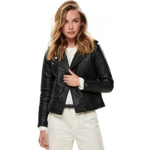 Onltaylor Faux Leather Biker (15182898.BLK)