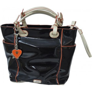 Handbag Black Eco Leather Gai Matiolo (EW0002)
