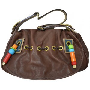 Handbag Brown Eco Leather With Design (FW0005)