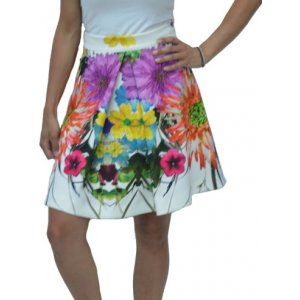 Womens Floral High Waist Skirt (GAD6NEJ)