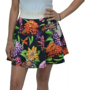 Womens Floral High Waist Skirt (PP22RR94AA)