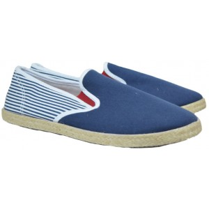 Mens Espadrilles Blue With Stripped Back (SC254UOSS17.02)