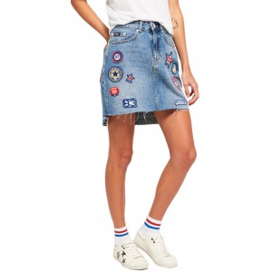 D1 Denim Mini Skirt (SD0APG72001KQ0000000.6G6)