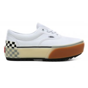 UA Era Stacked White/CheckBd (VN0A4BTOTDC1)